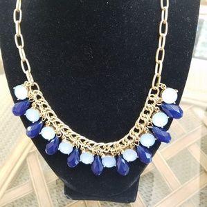 Talbots blue jewel necklace